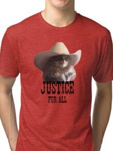 Sheriff Cat Justice Fur All Tri-blend T-Shirt