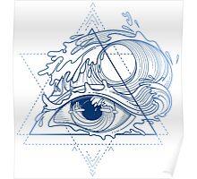 Ocean in the eye Poster