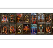 Steampunk -  Alphabet - Banner Version Complete Sticker
