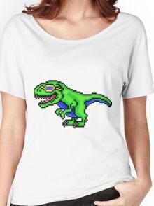 Cool Dinosaur - Pixels Women's Relaxed Fit T-Shirt