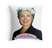 Hipster Hillary for President Throw Pillow