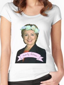 Hipster Hillary for President Women's Fitted Scoop T-Shirt