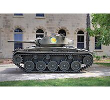 M24 Chaffee Tank Photographic Print