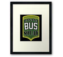 Banana Bus Squad - Military Style Framed Print