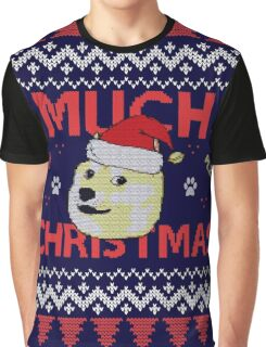 Much Christmas - Doge Meme Graphic T-Shirt