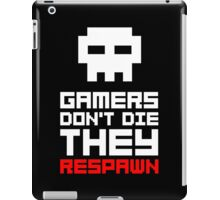 Pixel Skull Gamers Don't Die iPad Case/Skin