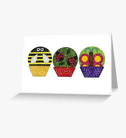 Insect Cupcakes Greeting Card
