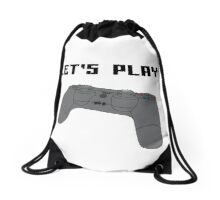 """Let's Play"" Drawstring Bag"