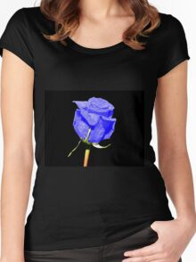 Blue Rose Women's Fitted Scoop T-Shirt