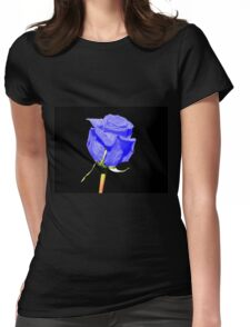 Blue Rose Womens Fitted T-Shirt