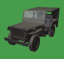 Gray Willys MB Jeep Kids Clothes