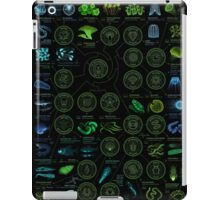 A visual compendium of glowing creatures iPad Case/Skin