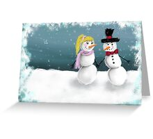 Mr. & Mrs. Snowman Greeting Card
