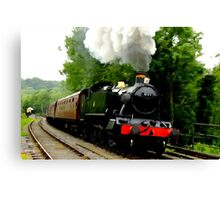 The Steam Train Locomotive Canvas Print