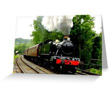 The Steam Train Locomotive Greeting Card