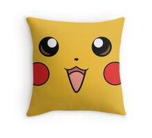 Pokemon - Pikachu Face Yellow Throw Pillow