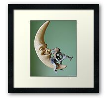 Pixie on the Moon Framed Print