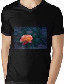 Orange Rose 2 Mens V-Neck T-Shirt