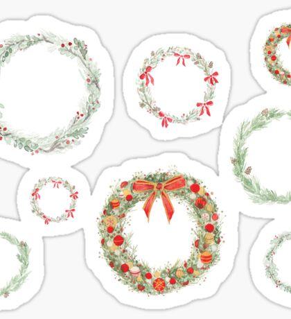 Winter Wreaths Sticker Set Sticker