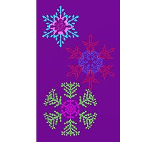 Holiday Snowflakes  Photographic Print