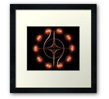 Dynamic Cross Framed Print
