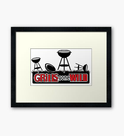 Grills Gone Wild - Parody Framed Print