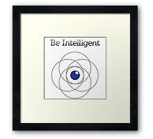 Be Intelligent Erudite Eye - Black & Blue Framed Print
