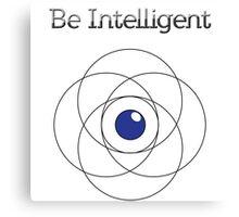 Be Intelligent Erudite Eye - Black & Blue Canvas Print