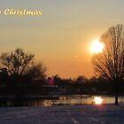 Merry Christmas - Sunset 01 by Peter Barrett