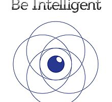 Be Intelligent Erudite Eye - Blue by MusicandWriting