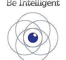 Be Intelligent Erudite Eye - Blue by MusicandWriting