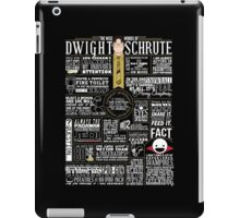 The Wise Words of Dwight Schrute (Dark Tee) iPad Case/Skin