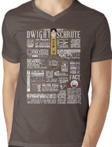 The Wise Words of Dwight Schrute (Dark Tee) Mens V-Neck T-Shirt