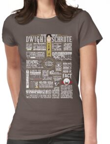 The Wise Words of Dwight Schrute (Dark Tee) Womens Fitted T-Shirt