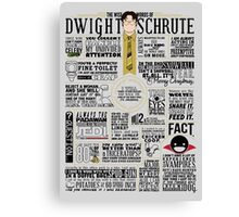 The Wise Words of Dwight Schrute (Dark Tee) Canvas Print