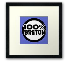 breton bretagne citation humour Framed Print