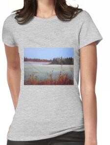 Winter in Island Lake Park  Womens Fitted T-Shirt