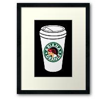 Ariana Grande Coffee Framed Print