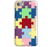 Multicolor jigsaw puzzle image iPhone Case/Skin