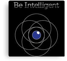 Be Intelligent Erudite Eye - White & Blue Canvas Print