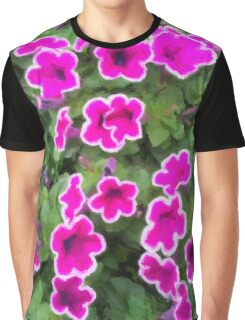 Fuchsia Pansies Graphic T-Shirt