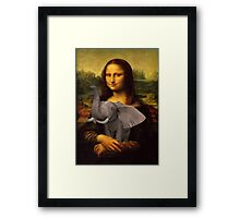 Mona Lisa With Elephant Framed Print