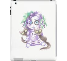 Gothic cat lady doll iPad Case/Skin