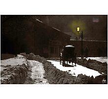 Dusk Carriage Quebec City Photographic Print