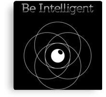 Be Intelligent Erudite Eye - White Canvas Print