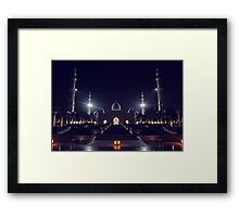 Zayed Grand Mosque Framed Print