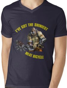 Meat Bicycle Mens V-Neck T-Shirt