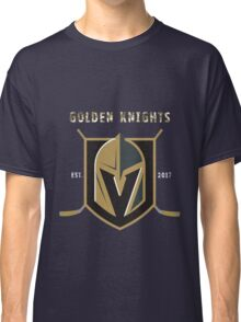 A Golden Vegas Sports Shirt Knight Emblem Epic T-Shirt Classic T-Shirt