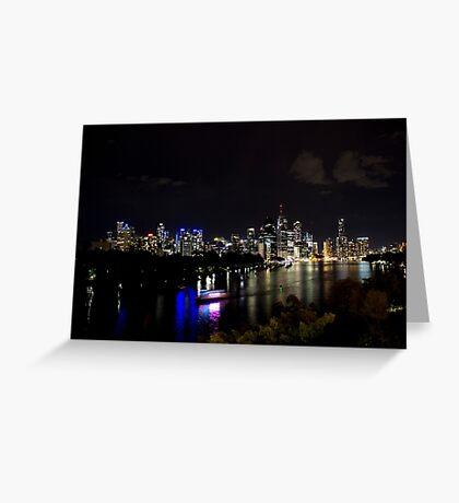 Overlooking The Brisbane River Greeting Card