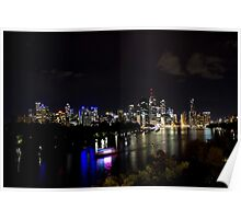 Overlooking The Brisbane River Poster